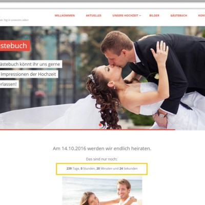 Countdown Vorschau Webseite