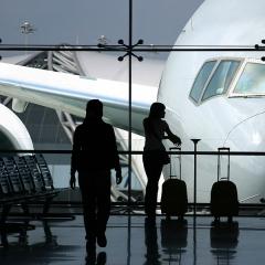 Flughafen Auslandsaufenthalt