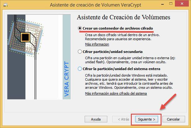 Generar disco virtual cifrado de Veracrypt