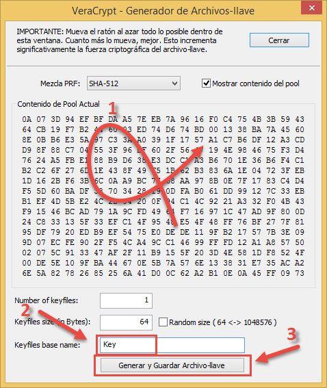Generar archivo-llave Veracrypt
