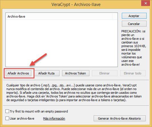 Añadir archivo a Veracrypt