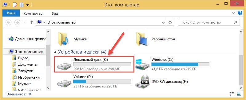 Veracrypt отображение названия диска