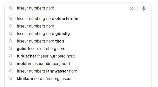 Beispiel für Inspiration für die eigene Website: Frisör Nürnberg