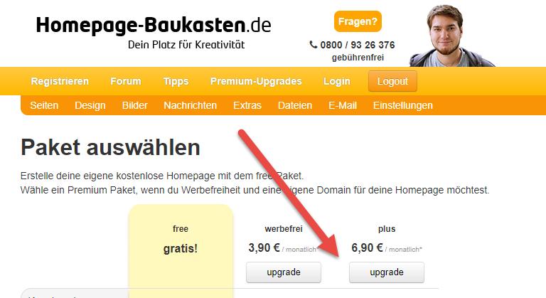 Website upgraden - Eigene Domain buchen