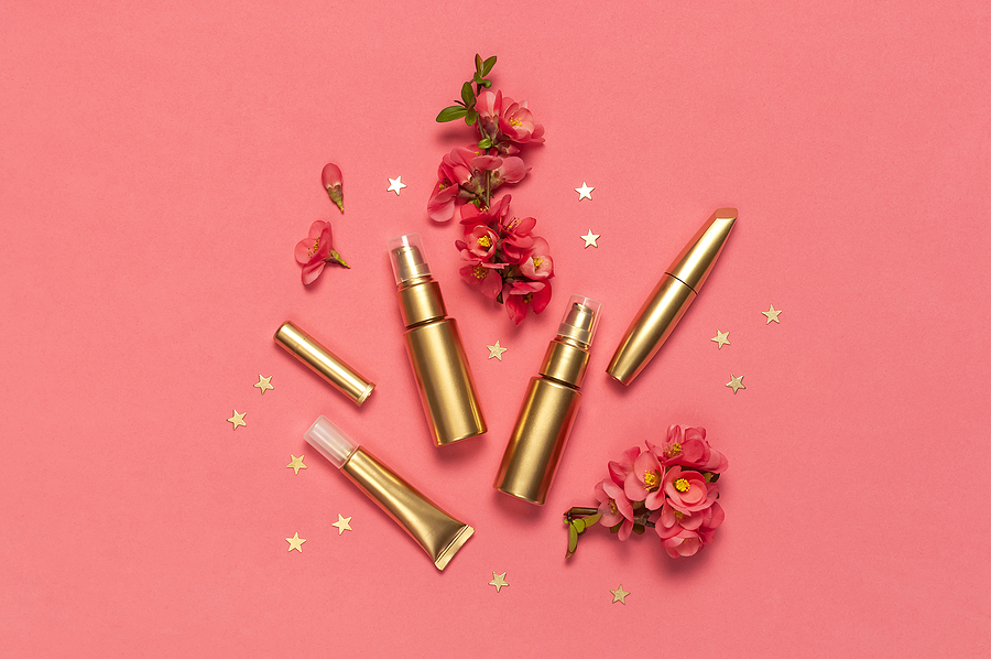 productos cosméticos-flatlay