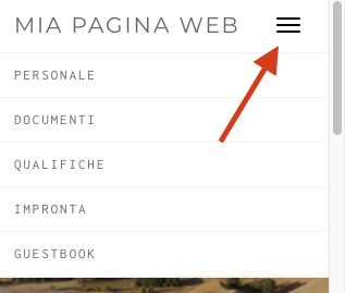 Responsive design - menu verticale a burgher